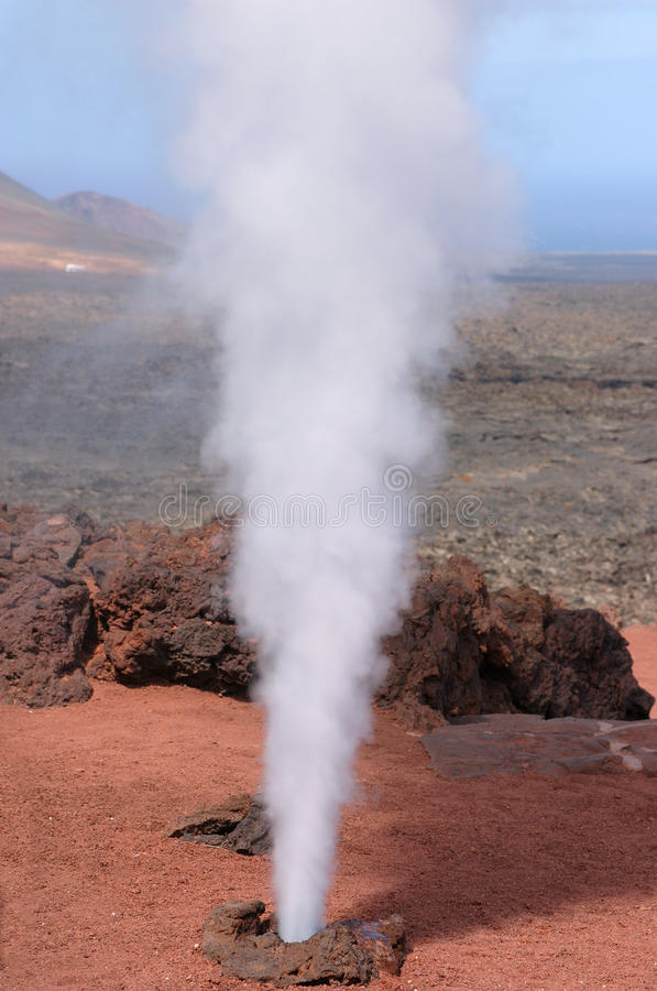 Free Spain, Canary Islands, Lanzarote, Volcanic Geyser. Stock Photo - 48648440