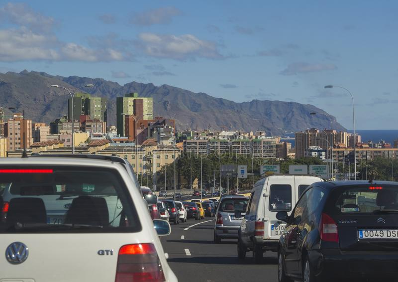 Spain, Canary islands, Tenerife, Santa Cruz de Tenerife, Decembe stock photo