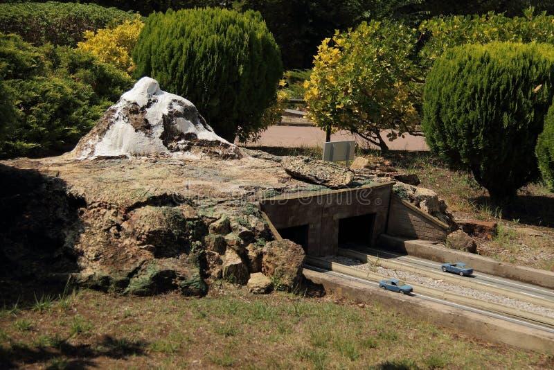 Spain, Catalunya en Miniatura park, august 2018. Editorial usage. Spain, Catalunya en Miniatura park, august 2018 stock photo