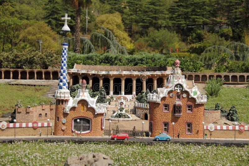 Spain, Catalunya en Miniatura park, august 2018. Editorial usage. Spain, Catalunya en Miniatura park, august 2018 royalty free stock photography
