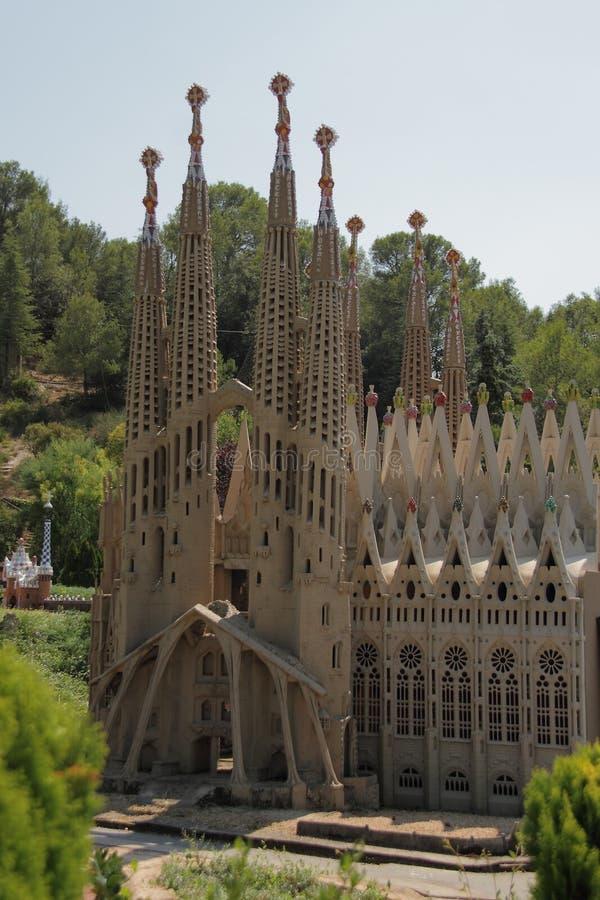 Spain, Catalunya en Miniatura park, august 2018. Editorial usage. Spain, Catalunya en Miniatura park, august 2018 royalty free stock photo