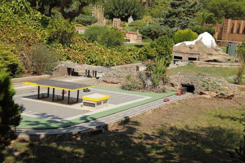 Spain, Catalunya en Miniatura park, august 2018. Editorial usage. Spain, Catalunya en Miniatura park, august 2018 stock photos