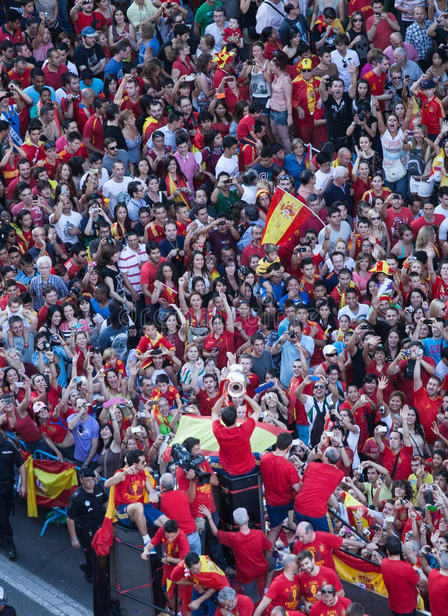 Download Spain European Champion editorial image. Image of roja - 25543740