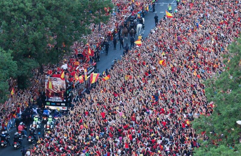 Spain European Champion Editorial Photography
