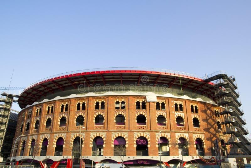 spain för arenasbarcelona bullring sikt arkivfoto