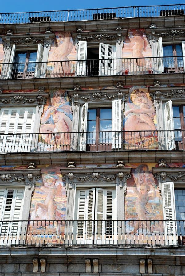 spain för madrid borgmästareplaza fyrkant 2010 arkivbild
