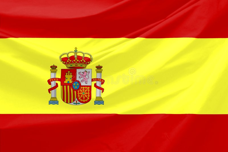 Spain Flag. Wavy and realistic Spain Flag royalty free illustration