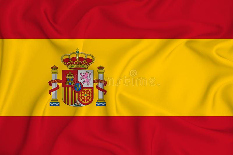 Spain flag on the background texture. Concept for designer solutions.  stock photography