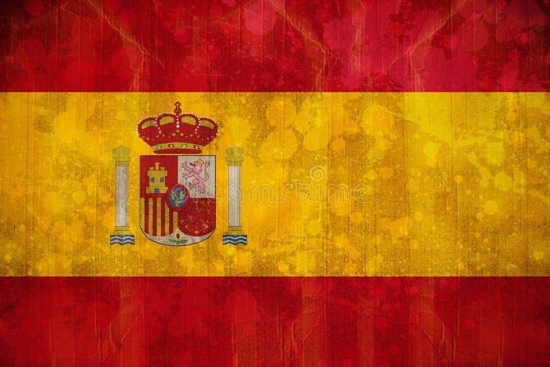 Spain flag in grunge effect stock illustration