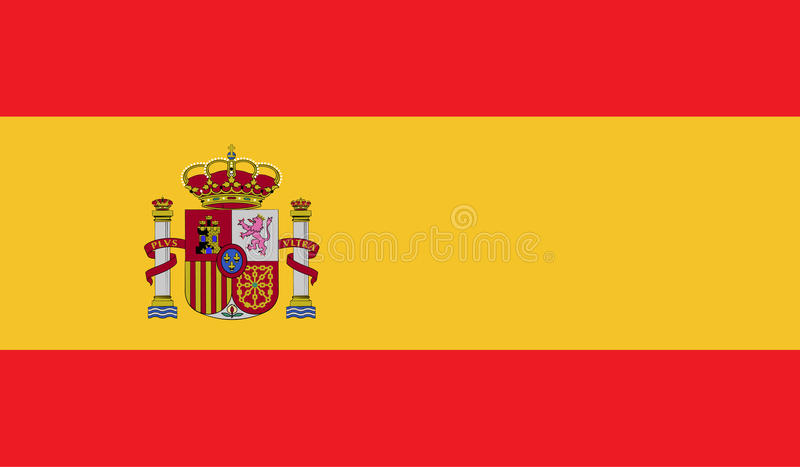Spain flag image. For any design in simple style vector illustration