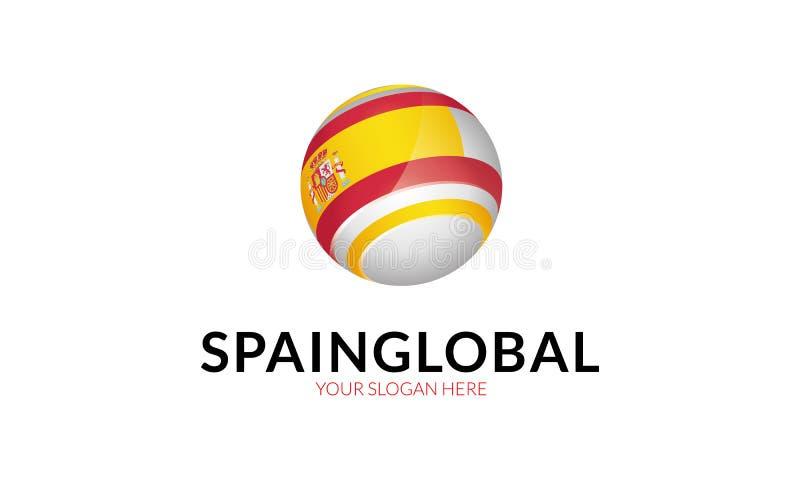 Spain Flag logo template royalty free illustration