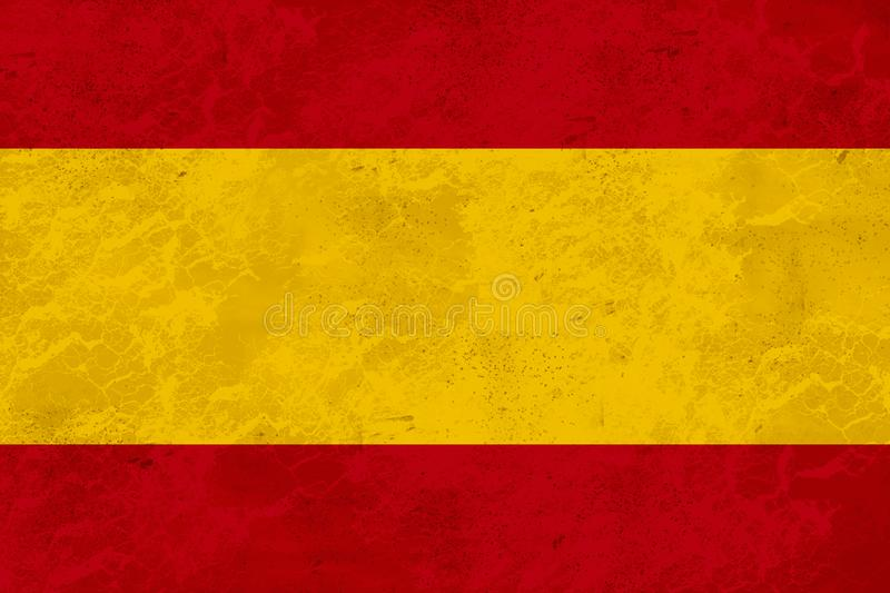 Spain flag - marble texture. Flag of Spain, national country symbol. Vector illustration