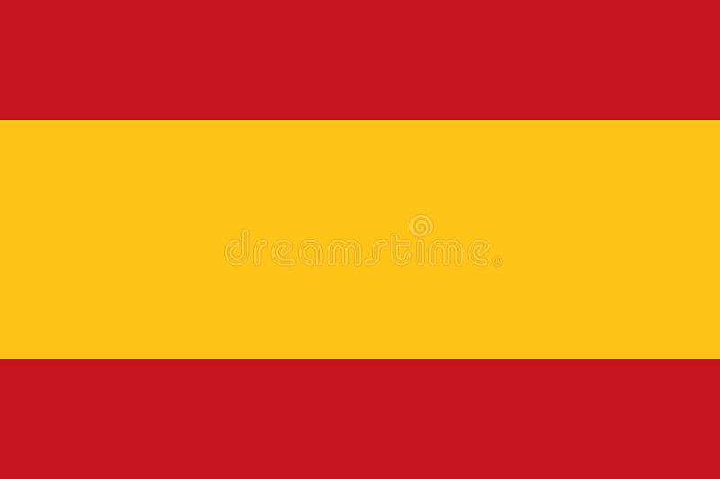 Spain flag vector. Spain flag country europe vector royalty free illustration