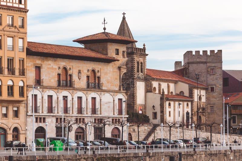 View on Old Port of Gijon, Asturias, Northern Spain stock photo