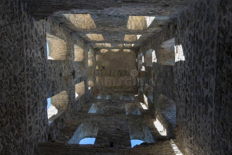 Monstary, Monasterio de Sant Pere de Rodes | Ermita de Santa Creu de Rodes royalty free stock photography