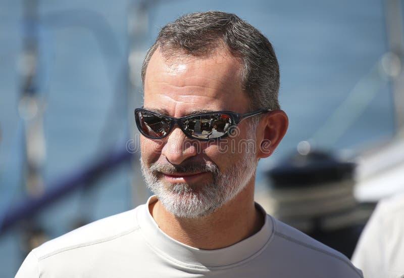 Spain king felipe in palma de mallorca port stock image