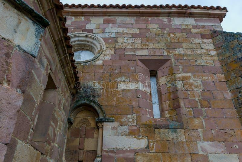 spain Kyrka av den San svalan i Muda Palencia royaltyfri fotografi
