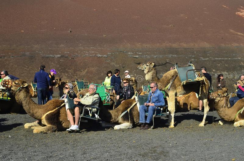 Spain, canary Islands, Lanzarote, Timanfaya NP stock image