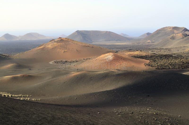 Spain, Lanzarote Island. Spain, volcanic scenery in Timanfaya Nationalpark in Lanzarote stock images