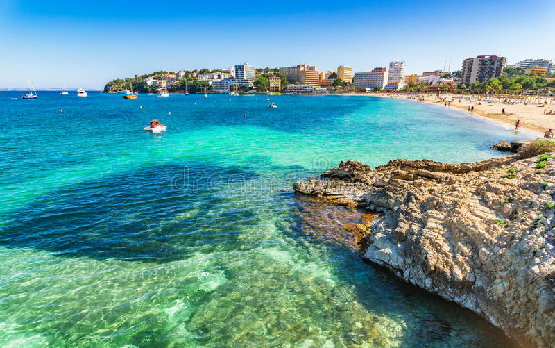 Spain Majorca beach Son Maties royalty free stock image