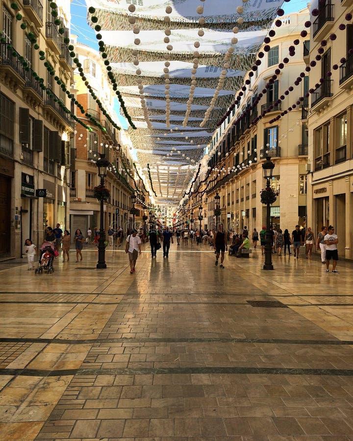 Spain. Malaga. Shopping street under a canopy. royalty free stock photography