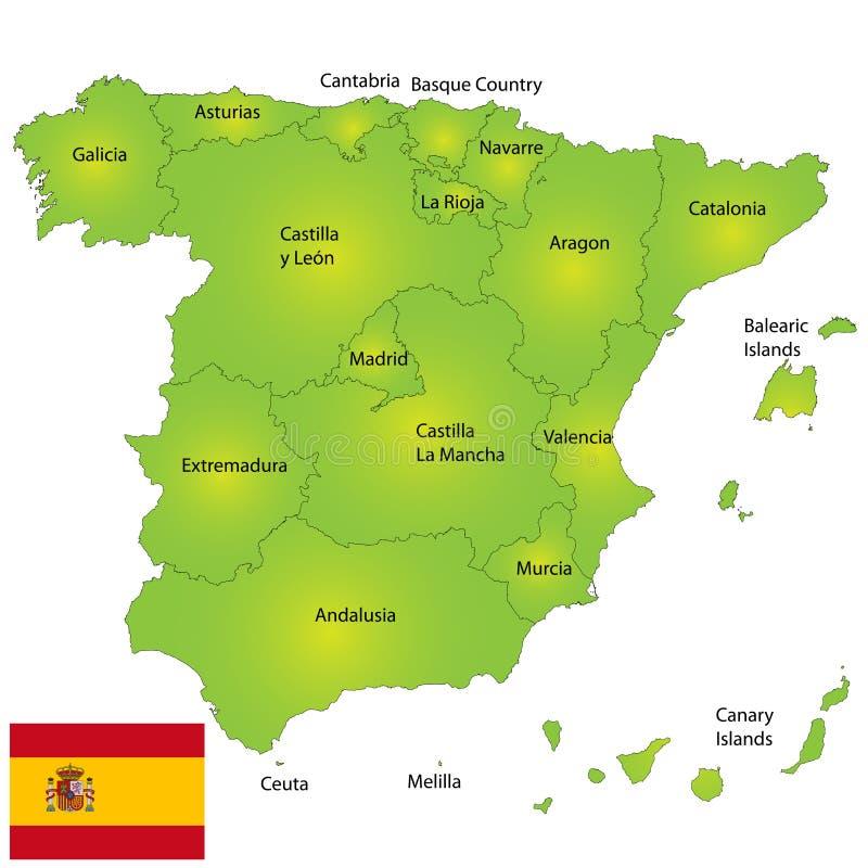 Spain Map Stock Photos