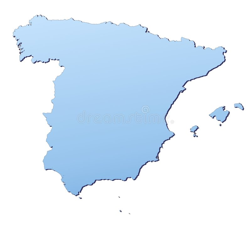 Download Spain map stock illustration. Image of borders, mercator - 4572374