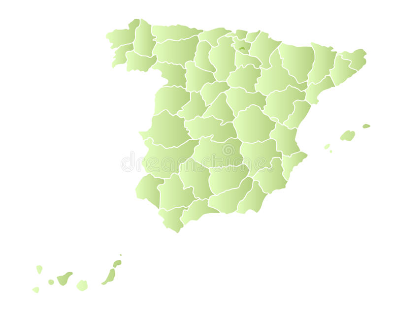 Download Spain map with provinces stock vector. Image of outline - 13021825