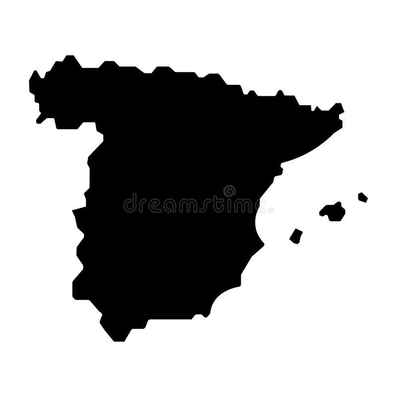 Spain map sign. filled with black. Eps ten vector illustration