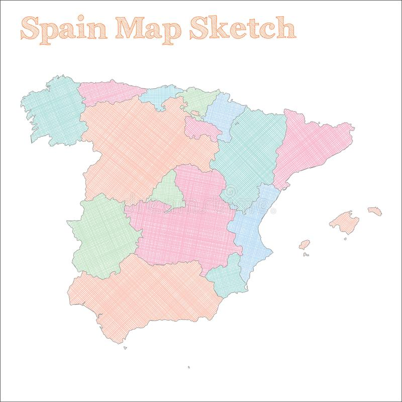 Spain map. stock vector. Illustration of border, design ...