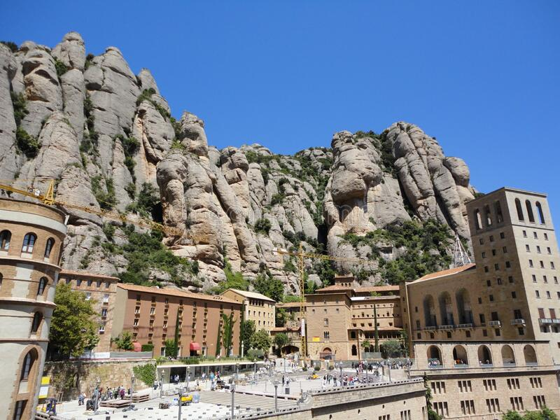 Spain mountain montserrat monastery rock royalty free stock images