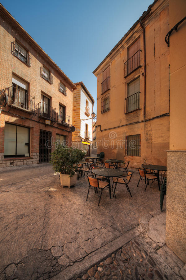 spain restauracyjna ulica Toledo zdjęcia royalty free