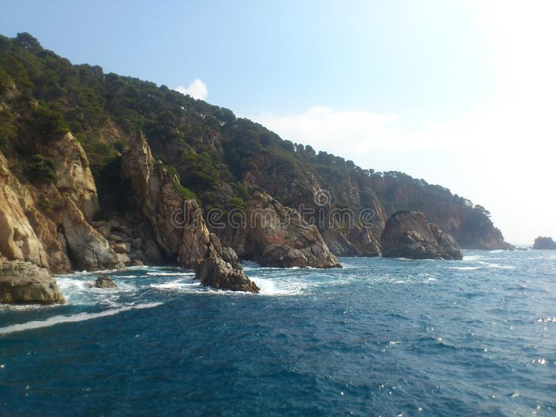 Spain seacoast royalty free stock photo