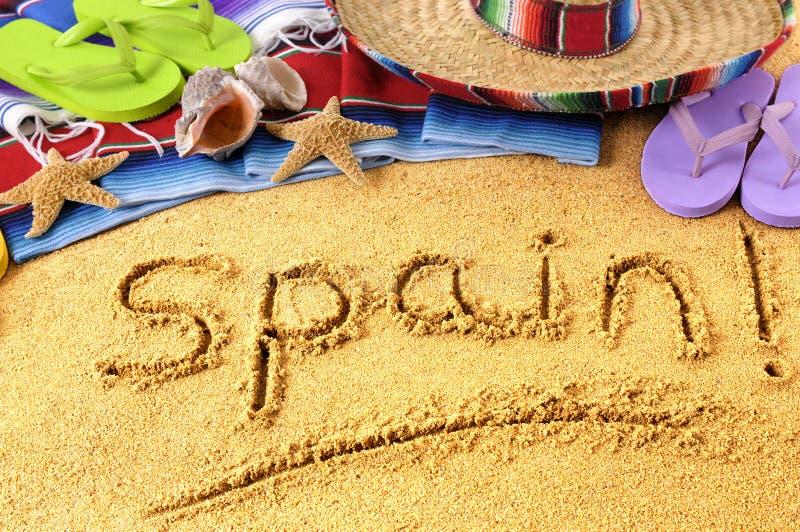 Spain, Spanish Beach, Sombrero Stock Photo - Image of ...