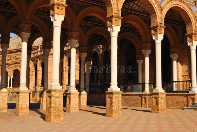 Spain square columns stock image