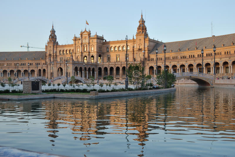 Spain square in Seville royalty free stock photography