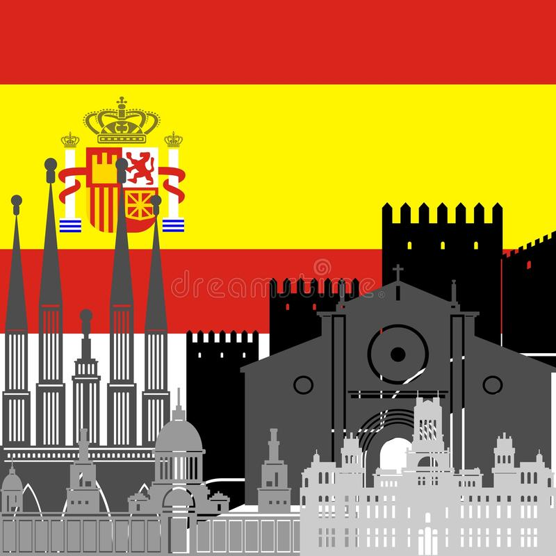 Download Spain stock vector. Illustration of country, sign, building - 41368164