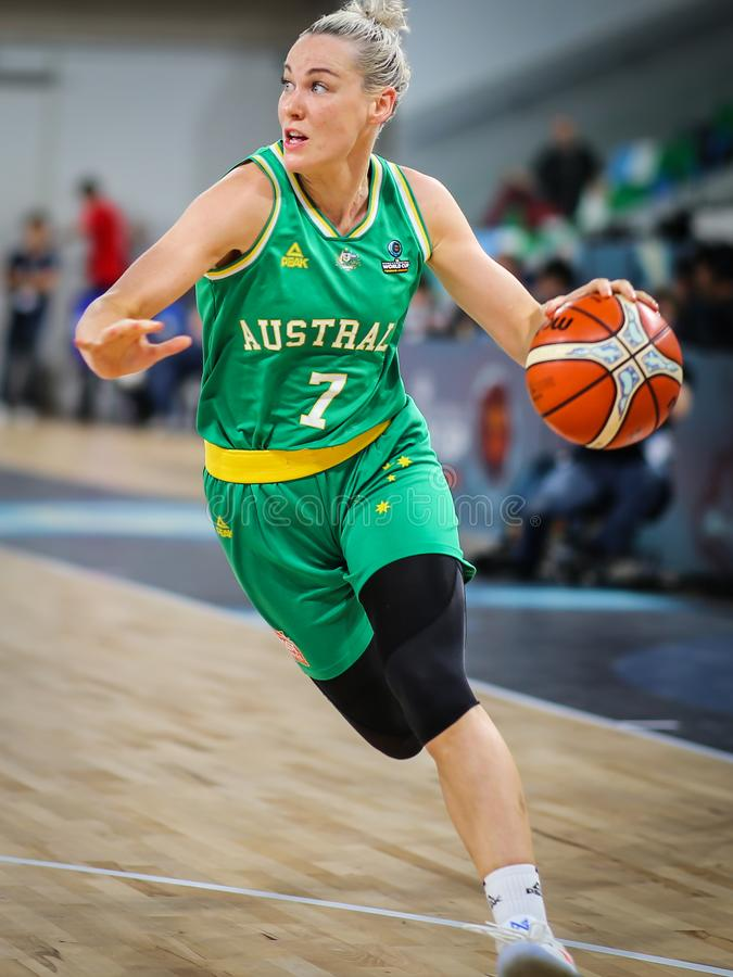 Australia female athlete, Tess Madgen, in a rapid action royalty free stock photography