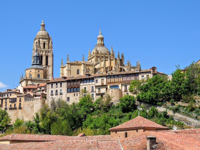 spain toledo Catedral de Toledo Spain y Palacio Arzobispal royaltyfri fotografi