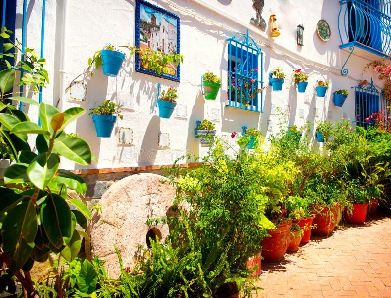 Spain. Torremolinos. White Village stock image