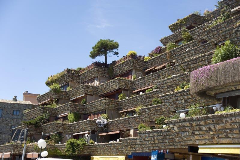 Spain. Tossa de Mar. Hotel on the mountain. royalty free stock photo