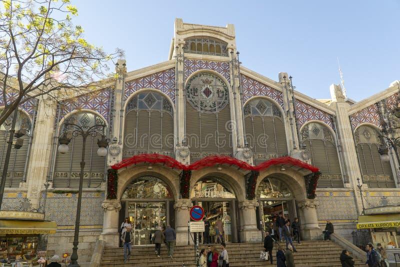Spain, Valencia, the central market stock photography