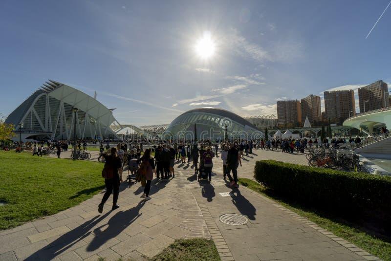 Spain Valencia marathon The City of Arts and Sciences stock image