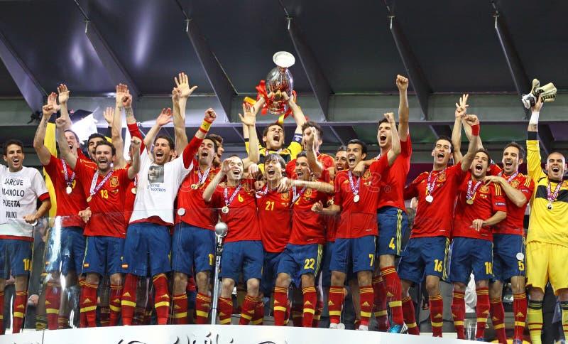 Spain - vencedor do EURO 2012 do UEFA fotos de stock royalty free