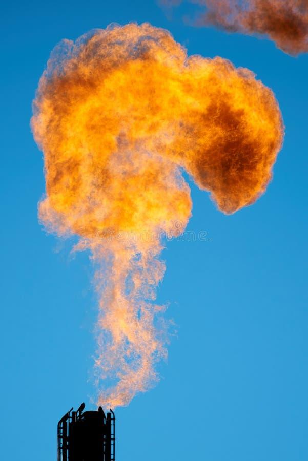 Spalanie kojarzony ropa naftowa gaz fotografia royalty free