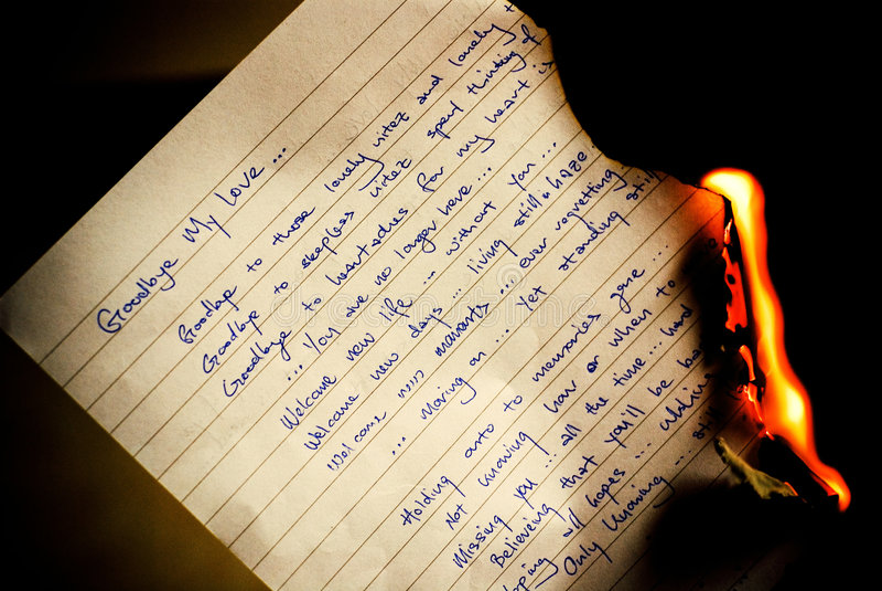 spalić list do widzenia obrazy stock