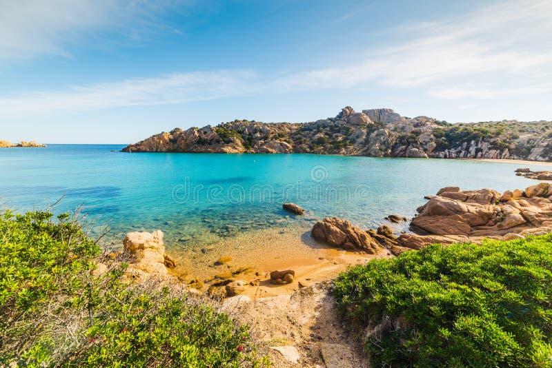 Spalmatore海滩在拉马达莱纳海岛 免版税库存图片