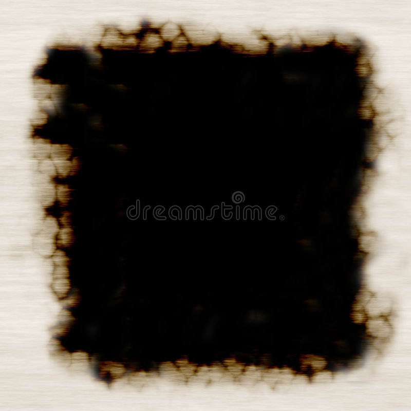 spalone rama papieru ilustracja wektor