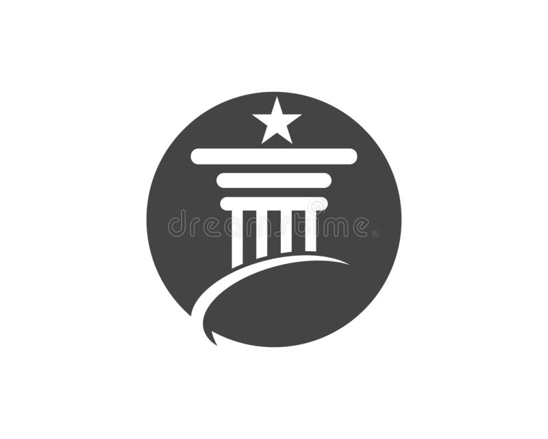 Spalte Logo Template-Entwurf vektor abbildung