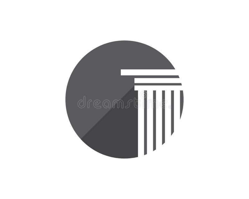Spalte Logo Template-Entwurf stock abbildung